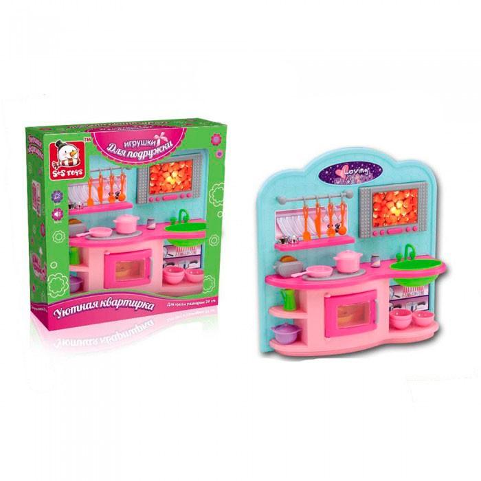 Кукольные домики и мебель S+S Toys Набор мебели Уютная квартирка - кухня набор доктора s s toys ej14672r сумочка