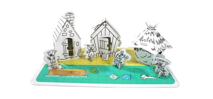 Раскраски CartonHouse Картонный домик-раскраска Три Поросенка cartonhouse игровой домик картонный мой первый дом