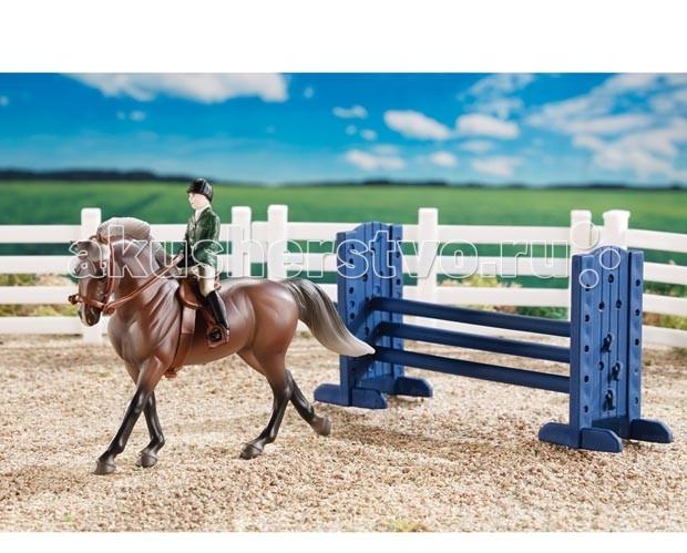Breyer Набор КонкурНабор КонкурВсе животные линейки Stablemates являются игровыми моделями. Это не только лошади, но и быки, ламы, кошки и собаки, которые, несмотря на свои миниатюрные размеры, похожи на реальных животных. Яркие и красивые, сделают первое знакомство ребенка с миром домашних животных веселым и запоминающимся.  Эта лошадь для конкура и всадник готовы парить!  Набор включает в себя: английского всадника, лошадь, все для прыжка, английское седло и уздечку и 4 секции ограждения, чтобы создать загон.  Рекомендовано детям от 4-х лет.<br>