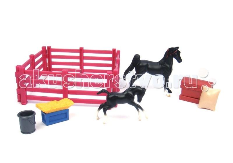 Игровые фигурки Breyer Игровой набор Кобыла с новорожденным жеребенком breyer трактор с аксессуарами