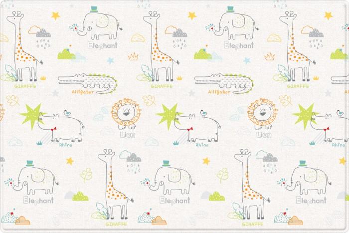 Купить Игровые коврики, Игровой коврик Parklon Двухсторонний Pure Soft Арт-деко/Зоопарк 190x130x1.2 см