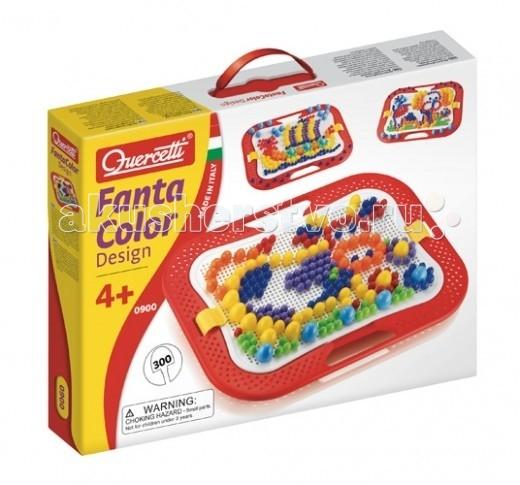 Quercetti Мозаика Фантастические цвета (300 деталей) 3 размеровМозаика Фантастические цвета (300 деталей) 3 размеровМозаика Quercetti «Фантастические цвета» - красивый и яркий набор для развития детского логического и творческого мышления, мелкой моторики рук, усидчивости и внимательности.  Ваш малыш с удовольствием будет составлять забавные картинки из разноцветных гвоздиков мозаики. Для создания изображений можно воспользоваться специальной книжкой-подсказкой, или пофантазировать.   В набор входит:  3-х различных размеров (диаметр - 10, 15, 20 мм)  1 мольберт  1 крепление для мольберта  1 цветной буклет с примерами.   Все элементы изготовлены из безопасного пластика.  Элементы можно мыть.<br>