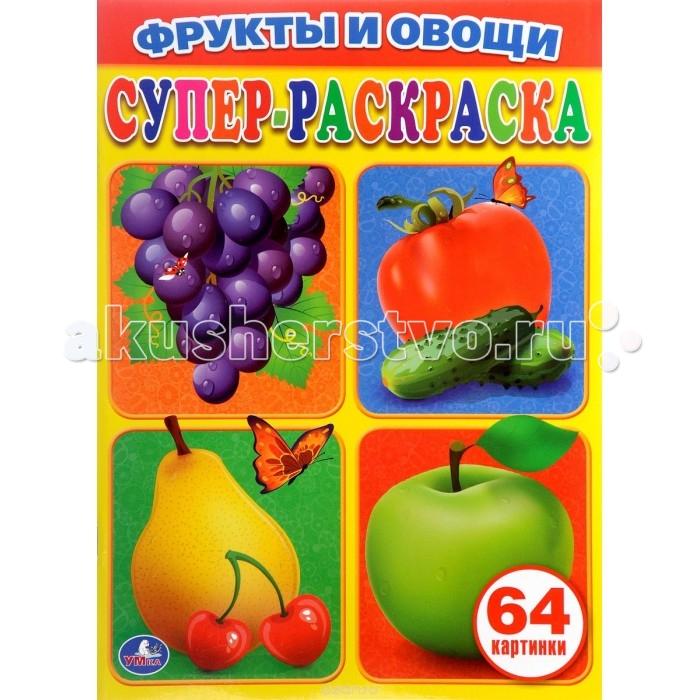 Раскраска Умка Фрукты и овощи 64 картинки - Акушерство.Ru