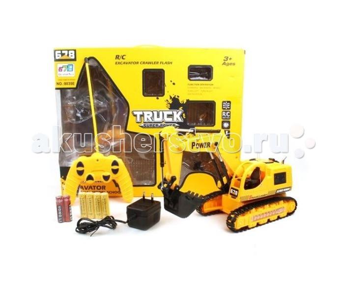 Машины S+S Toys Машинка строительная техника Экскаватор на радиоуправлении машинка s s toys k135a 6 1 42