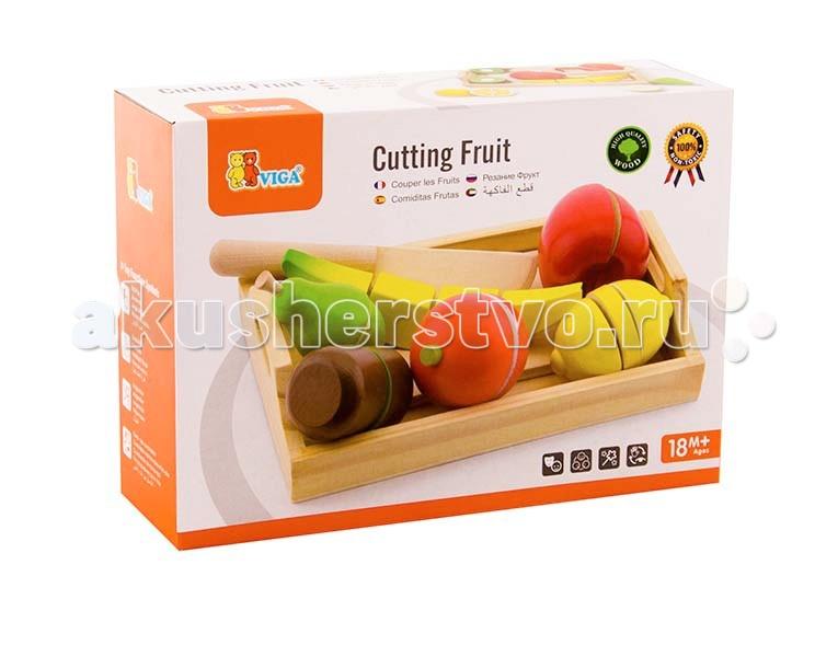 Купить Деревянные игрушки, Деревянная игрушка Viga Набор фруктов разрезных