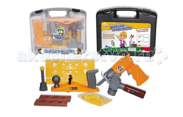 Ролевые игры S+S Toys Набор инструментов Винтик и Шпунтик в чемодане каталки винтик и шпунтик каталка