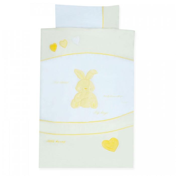 Комплект в кроватку Kidboo My Little Rabbit (6 предметов)My Little Rabbit (6 предметов)Комплект в кроватку Kidboo Little Rabbit выполнен из 100 % хлопка и обладает антиаллергенными и антибактериальными свойствами. Комплект в кроватку Kidboo сертифицирован Oeko-Tex Standard 100 (международная система тестирования и сертификации изделий из текстильных материалов).  Наполнитель 100% Hollofil allerban (антибактериальный, антиклещевой и противогрибковый наполнитель, который заботится о состоянии здоровья малыша).  В комплект входит: • пододеяльник (100 х 140 см) • одеяло (100 х 140 см) • наволочка (40 х 60 см) • подушка (40 х 60 см) • простынь на резинке (60x120+16 см)(16 см - для высоты матраса) • бампер - 4 части (360 x 45 см)<br>