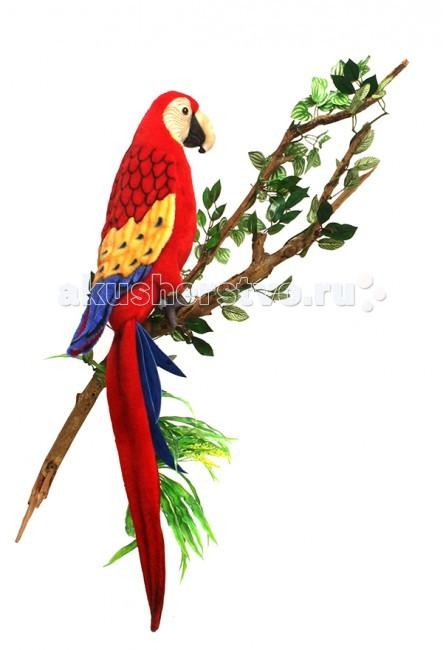 Картинка для Мягкая игрушка Hansa Попугай Ара красный 72 см