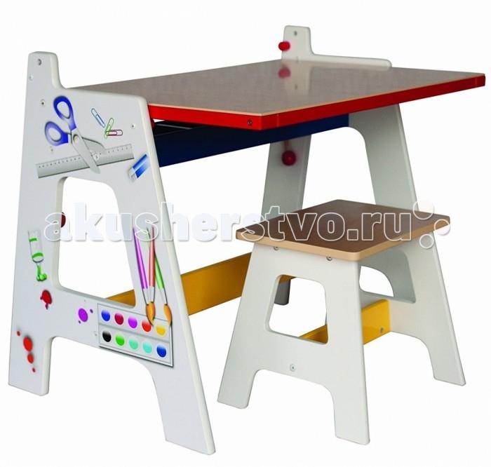 Детская мебель , Столы и стулья Zhejiang Taixing Childs Toys Co Стол-доска для рисования 2 в 1 арт: 453754 -  Столы и стулья