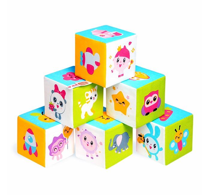 Развивающие игрушки Мякиши Кубики Малышарики Предметики кубики мди