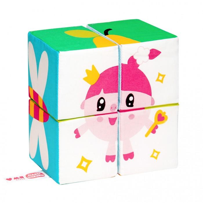 Развивающие игрушки Мякиши Кубики Собери Малышарика двенадцатигранные кубики кости