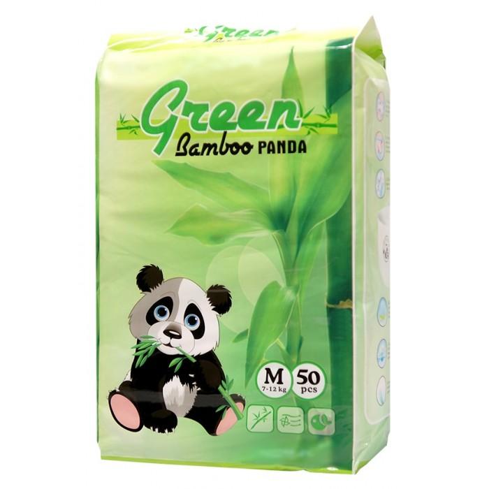 Гигиена и здоровье , Подгузники Green Bamboo Panda Подгузники-трусики M (7-12 кг) 50 шт. арт: 454244 -  Подгузники