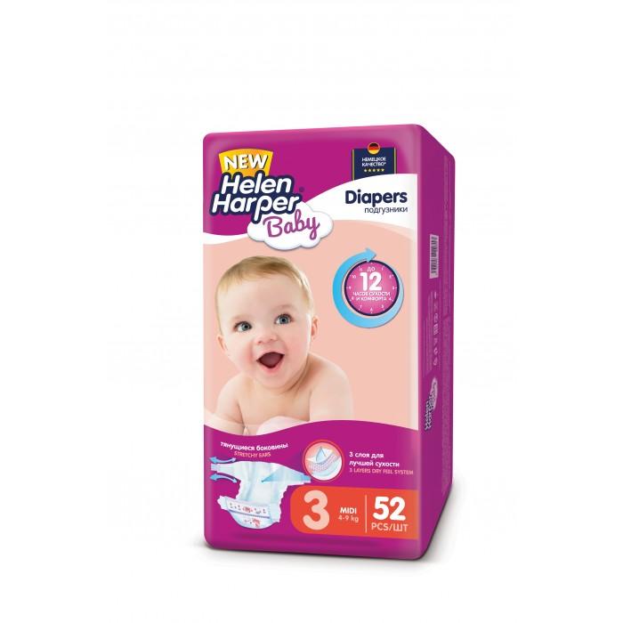 Подгузники Helen Harper Подгузники Baby Midi (4-9 кг) 52 шт. подгузники