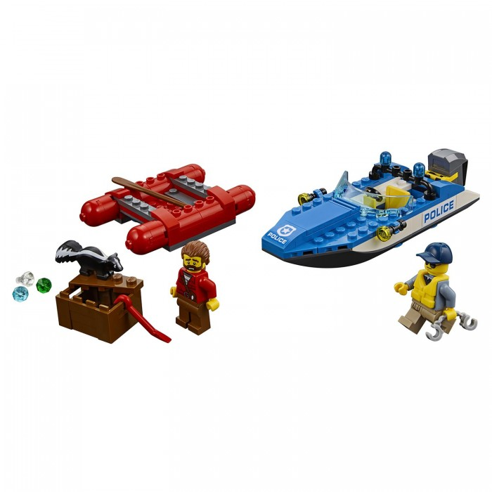 Lego Lego City Police Погоня по горной реке kazi city police series marine police headquarters police station children s educational toys fight inserted blocks minifigure