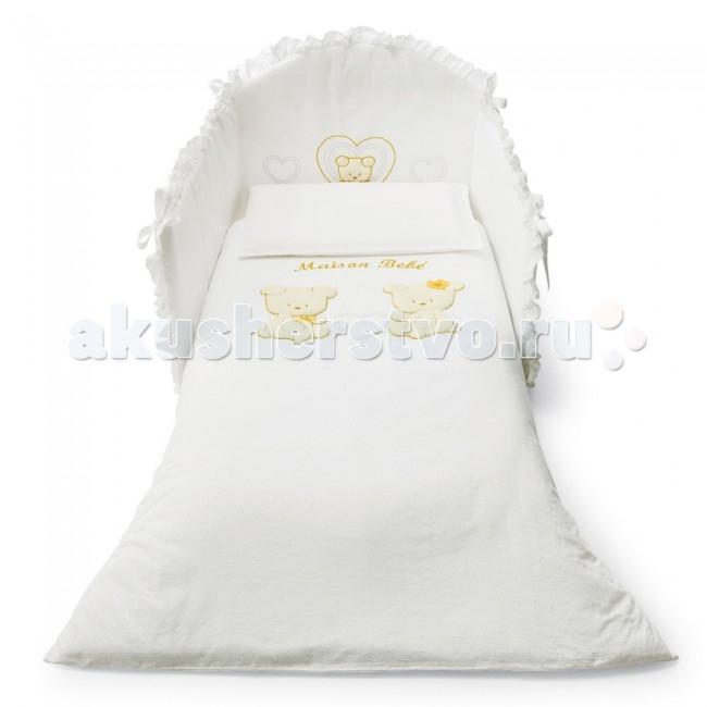 Комплект в кроватку Pali Smart Maison Bebe (3 предмета)Smart Maison Bebe (3 предмета)Великолепный комплект в кроватку Pali Smart Maison Bebe, состоящий из борта, наволочки и одеяла.   Комплект выполнен из хлопка высочайшего качества и декорирован аппликациями. Такое постельное белье подарит малышу невероятно комфортные ощущения и придаст кроватке изысканный и нарядный вид.  Основные характеристики: техника Безопасный шов обеспечивает белью повышенный комфорт и не травмирует нежную кожу малыша изготовлено из 100 % хлопка белье гиппоаллергенно составит гармоничный ансамбль с кроватками борт легко крепится к кроватке с помощью ленточек  В комплект входят: Бампер на 3 стороны на завязках (Для кроваток с внутренним размером 125х65 см.) Одеяло с пододеяльником 87х125 см с антиаллергенным внутренним наполнителем Наволочка 59 х 38 см<br>