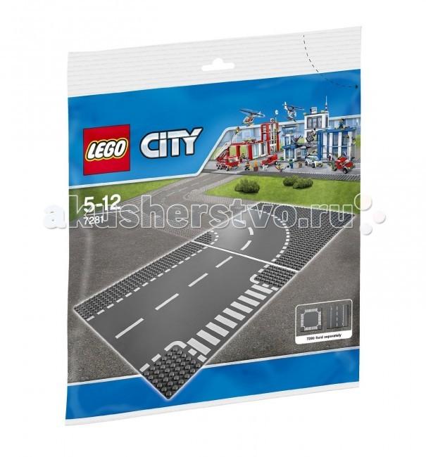 Lego Lego City 7281 Лего Город Т-образная развязка lego city 60107 лего город пожарный автомобиль с лестницей