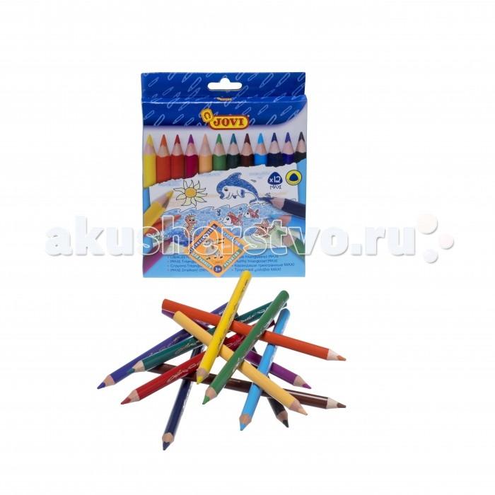 Jovi Цветные карандаши треугольные утолщенные 12 цветов