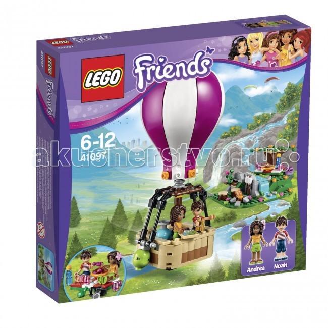 Конструктор Lego Friends 41097 Лего Подружки Воздушный шарFriends 41097 Лего Подружки Воздушный шарКонструктор Lego Friends 41097 Лего Подружки Воздушный шар собирается из 254 деталей.  Андреа и Ноа отправляются в удивительное путешествие на Воздушном шаре! Поднимись как можно выше, чтобы насладиться потрясающим видом Хартлейк Сити. Отыщи подходящее место для пикника с помощью карты и бинокля. Осторожно приземлись на воздушном шаре рядом с водопадом.   Теперь расстели одеяло для пикника и наслаждайся круассанами и вишней или подрумяненным на костре зефиром. Подкрепившись, помоги Андреа и Ноа исследовать окрестности!   Возможно, где-то спрятаны сокровища. Объедини с набором 41094 Маяк Хартлейк Сити, чтобы получить еще больше удовольствия от вида Хартлейк Сити.  Забирайся на Воздушный шар и отправляйся в путешествие. Найди идеальное место для пикника с помощью бинокля и карты. Расположись у водопада и насладись вкусной едой. Теперь пришло время изучить окрестности и отыскать спрятанный клад.  В комплекте 2 минифигурки с аксессуарами: Андреа Ноа. Количество деталей: 254 шт.<br>