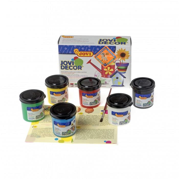 Картинка для Jovi Акриловые краски 6 цветов по 55 мл с кистью