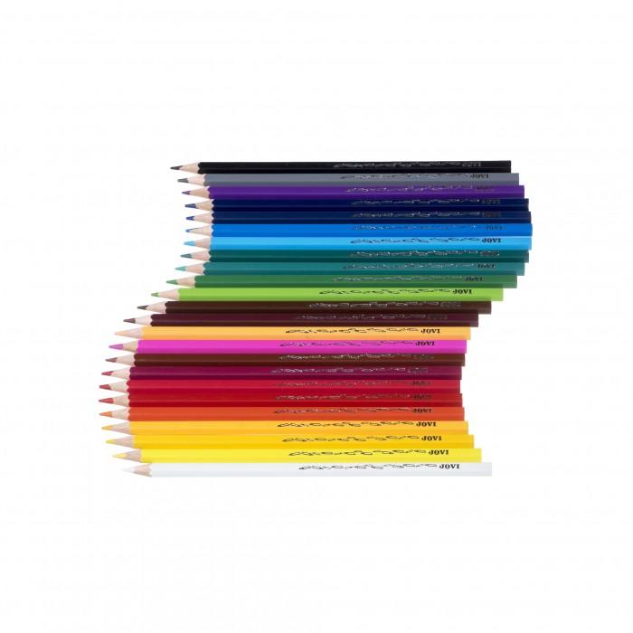 Карандаши, восковые мелки, пастель Jovi Цветные карандаши деревянные 24 цвета цветные карандаши bic kids evolution 24 цвета