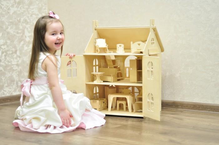 Кукольные домики и мебель Wood lines Кукольный домик Арина с мебелью, Кукольные домики и мебель - артикул:457146
