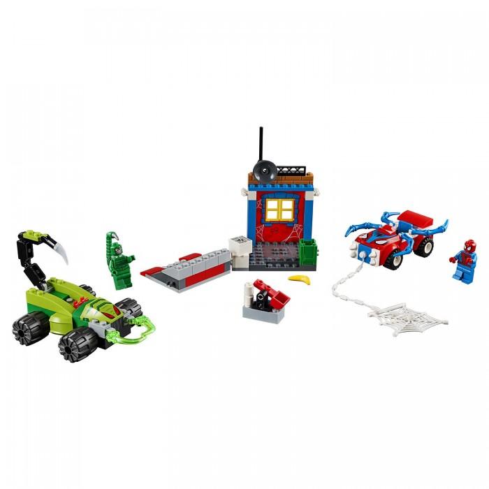 Lego Lego Juniors Решающий бой Человека-паука против Скорпиона шу л радуга м энергетическое строение человека загадки человека сверхвозможности человека комплект из 3 книг