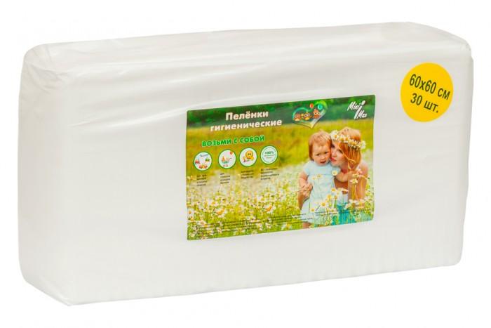 Одноразовые пеленки MiniMax Пеленки гигиенические 60х60 30 шт. minimax подгузники для взрослых размер m 10 шт