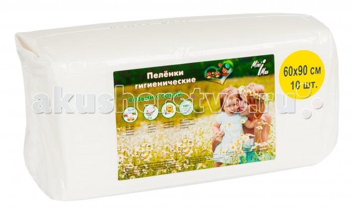Одноразовые пеленки MiniMax Пеленки гигиенические 60х90 10 шт. пеленки minimax 60x60 см 120 шт