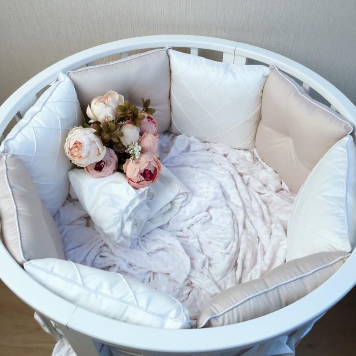 Бортик в кроватку Krisfi Утонченность для прямоугольной и овальной кроватки