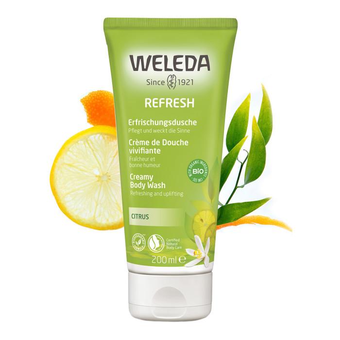 Косметика для мамы Weleda Цитрусовый освежающий гель для душа 200 мл косметика для мамы weleda масло для волос 50 мл