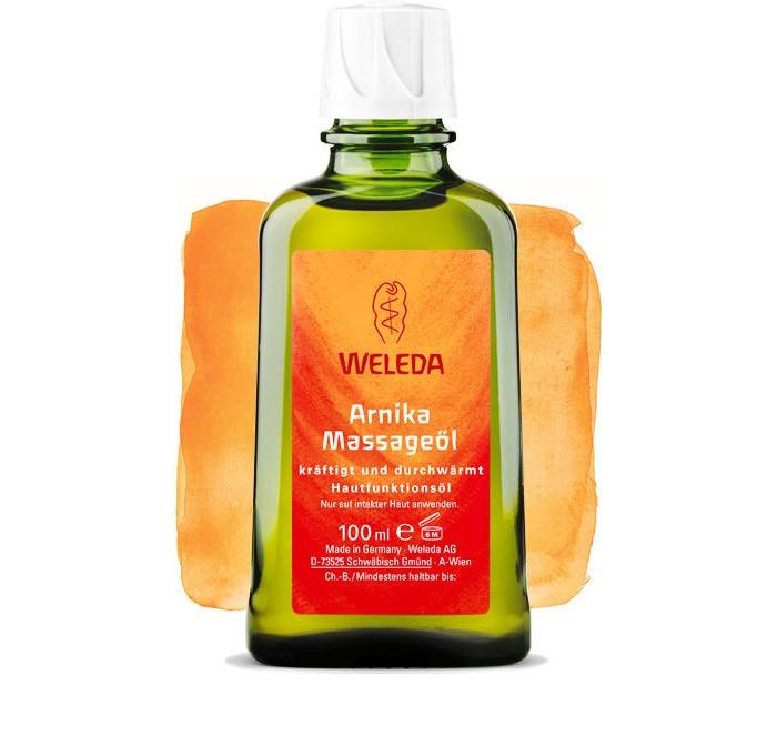 Косметика для мамы Weleda Массажное масло с арникой 100 мл масло от растяжек weleda для беременных 100 мл