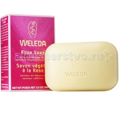 Косметика для мамы Weleda Растительное мыло розовое 100 г эфирные масла зейтун противопростудная смесь натуральных эфирных масел