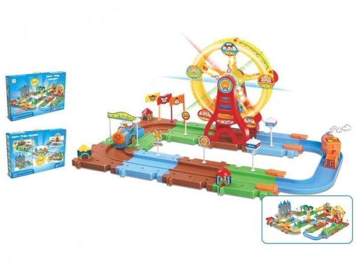 Игровые наборы Veld CO Игровой набор Карусель и поезд 4 в 1 подарочные коробки veld co набор из 4 картонных коробок крафт растительный орнамент