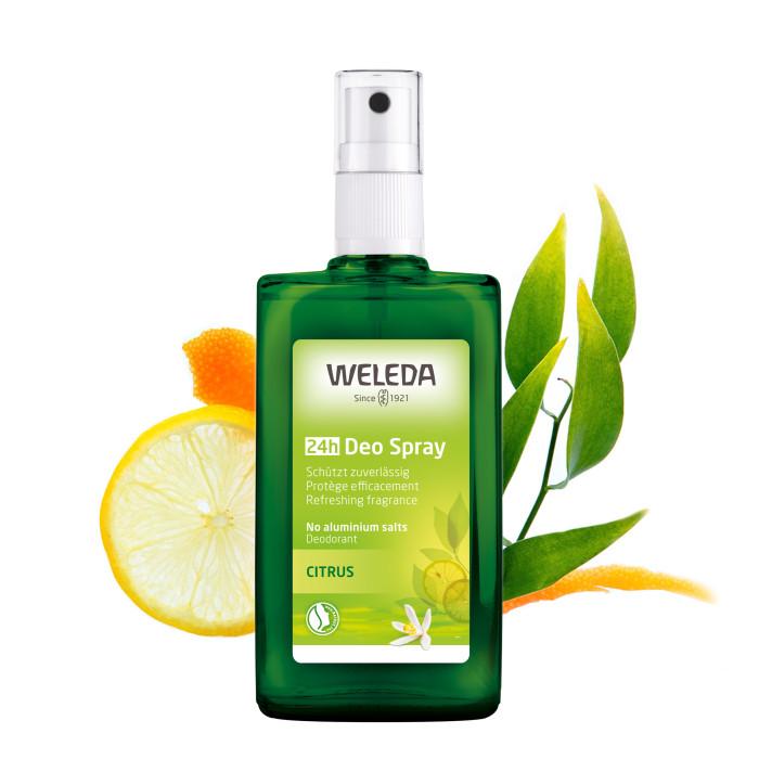 Косметика для мамы Weleda Цитрусовый дезодорант 100 мл weleda цитрусовый освежающий 200 мл