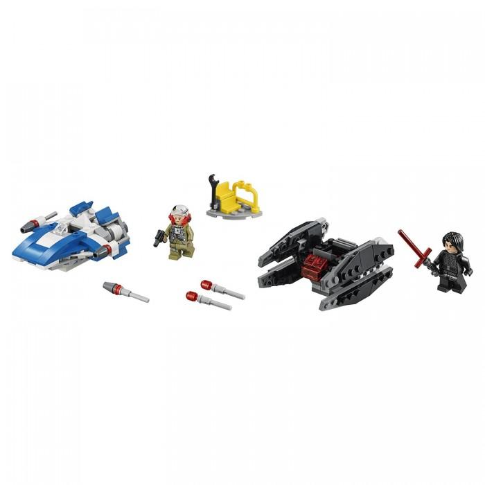 Lego Lego Star Wars Истребитель типа A против бесшумного истребителя СИД конструктор lego star wars истребитель дарта вейдера vs истребитель a wing