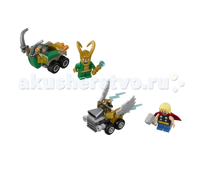 Lego Lego Super Heroes Mighty Micros: Тор против Локи плащ и маска тора uni