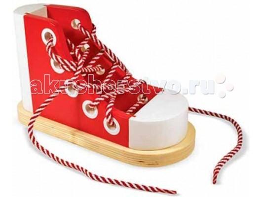 Деревянные игрушки Melissa & Doug Классические игрушки Шнуровка melissa обувь на шнурках