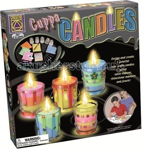 Наборы для творчества Creative Набор Дизайнерские свечи Стаканчики набор для творчества creative creative набор для творчества дизайнерские свечи стаканчики