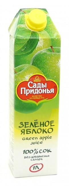 Соки и напитки Сады Придонья Сок из зеленых яблок с 3 лет. 1 л соки и напитки сады придонья сок апельсиновый с 3 лет 1 л