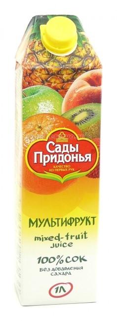 Соки и напитки Сады Придонья Сок мультифруктовый с 3 лет. 1 л добрый сок яблочный 0 2 л