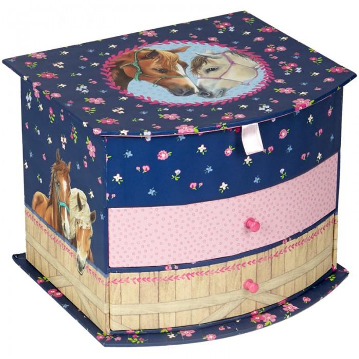 Детская мебель , Шкатулки Spiegelburg Шкатулка для украшений Pferdefreunde 13526 арт: 461466 -  Шкатулки