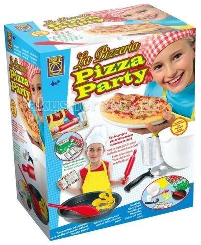 Creative Набор для творчества Готовим пиццуНабор для творчества Готовим пиццуCREATIVE 5920 Готовим пиццу.  Израильская компания Creative занимается производством игрушек для детского творчества уже не один десяток лет, её продукция приобрела известность и популярность во многих странах мира. Над разработкой, концепцией и дизайном выпускаемых игрушек работает целая группа психологов, преподавателей и учёных.   Каждая игрушка или набор производится из высококачественных материалов и при помощи самых современных технологий. В то же время тщательно соблюдаются все требования к безопасности игрушек при их использовании. Продукция компании Creative создана, чтобы помогать ребёнку развиваться в интеллектуальном плане, а также получать удовольствие от игры.  Пицца - самое любимое блюдо взрослых и детей. Это изделие из тонко раскатанного дрожжевого теста, покрытое соусом из помидоров и сыром. В настоящее время выпекают пиццу самых разнообразных форм - круглую, квадратную, прямоугольную; тонкую и толстую. И кто бы мог подумать, что пицца, начавшая свой путь в виде кусочка теста, приклеиваемого к стенкам печи, чтобы очистить их от золы, превратится в самый популярный и продаваемый продукт в мире.  Приготовь пиццу по рецептам из набора CREATIVE Готовим пиццу, используя настоящие кухонные принадлежности.В твоём распоряжении различные рецепты пиццы и соусы. Не забывай подбирать исходные продукты в количествах, указанных в рецептах, и соблюдать правила безопасности во время работы на кухне. Обязательно воспользуйся помощью взрослых в процессе работы, и успех обеспечен.  Рецепты выпечки пиццы, предлагаемые в наборе: Простая пицца на основе питы 2 шт Тесто для пиццы два готовых изделия диаметром 20 см каждое Пицца из слоёного теста Маленькие пиццы 18 шт Пицца в форме рогаликов Соус для пиццы.  Для этого в комплекте есть все необходимое: круглая форма для выпечки пиццы специальный нож с металлической круглой насадкой для нарезки пиццы пластмассовая ёмкость для перемешивания пластмасс