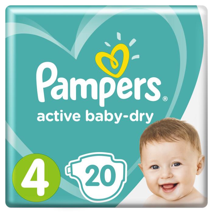 Подгузники Pampers Подгузники Active Baby р.4 (9-14 кг) 20 шт. подгузники pampers active baby dry 5 11 18 кг 111 шт