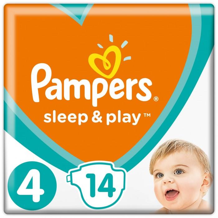 Подгузники Pampers Подгузники Sleep & Play Maxi р.4 (9-14 кг) 14 шт. pampers pampers sleep