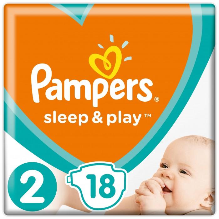 Подгузники Pampers Подгузники Sleep & Play Mini р.2 (4-8 кг) 18 шт. pampers pampers sleep