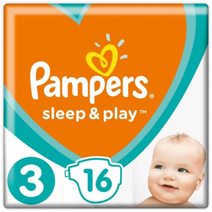Подгузники Pampers Подгузники Sleep & Play Стандарт р.3 (6-10 кг) 16 шт. pampers pampers sleep
