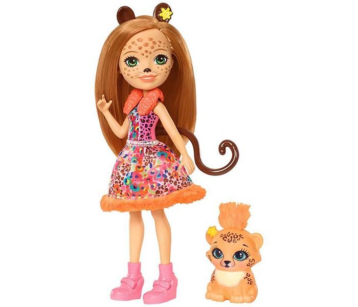 Enchantimals Кукла с любимой зверюшкой Чериш Гепарди