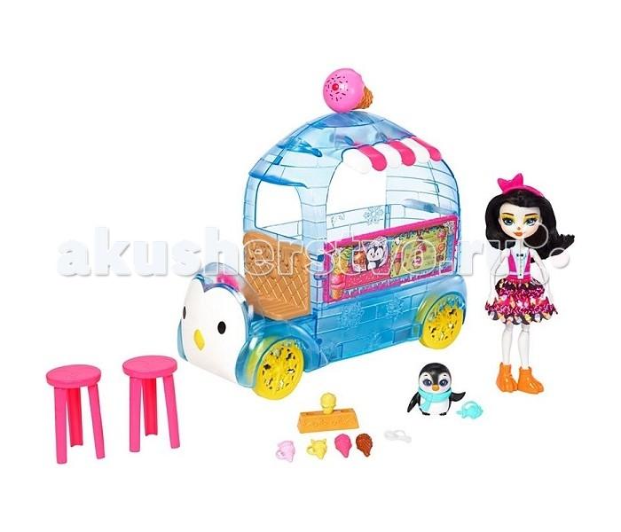 Игровые наборы Enchantimals Игровой набор Фургончик мороженого Прины Пингвины enchantimals пазл 64 магнитик фелисити лис и флик 03554