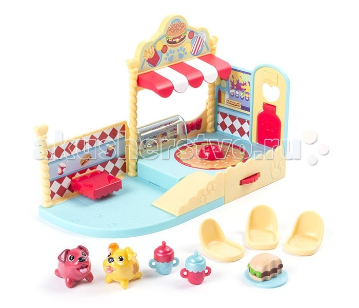 Игровые наборы Chubby Puppies Игровой набор Упитанные собачки Кафе-гамбургер