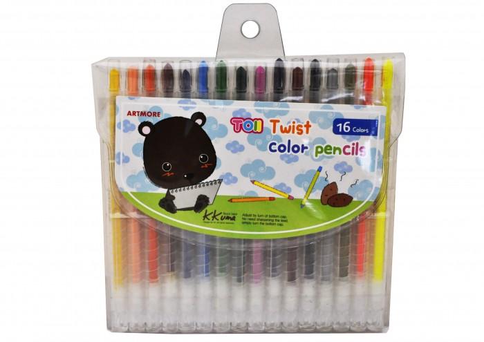 Карандаши, восковые мелки, пастель TOII Карандаши восковые цветные 16 цветов карандаши